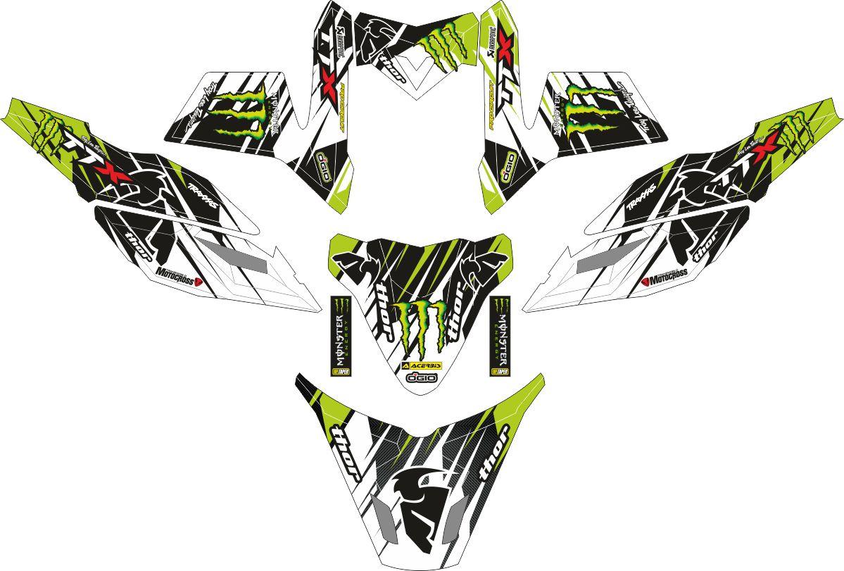 Комплект наклеек на скутер YAMAHA X RIDE MONSTER ENERGY THOR