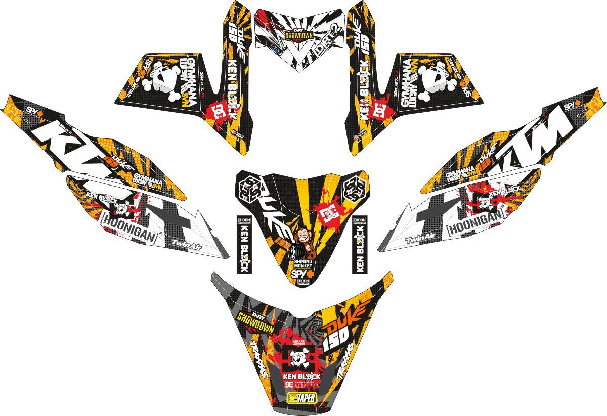 Комплект наклеек на скутер YAMAHA X RIDE MONSTER KTM GYMKHANA