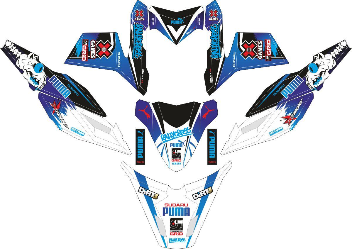 Комплект наклеек на скутер YAMAHA X RIDE PUMA RALLY CROSS