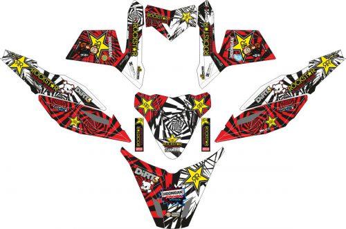Комплект наклеек на скутер YAMAHA X RIDE ROCK STAR HOONIGANS