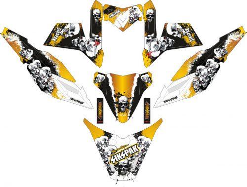 Комплект наклеек на скутер YAMAHA X RIDE SIKSPAK GOLD