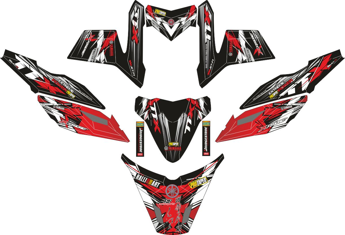 Комплект наклеек на скутер YAMAHA X RIDE TTX