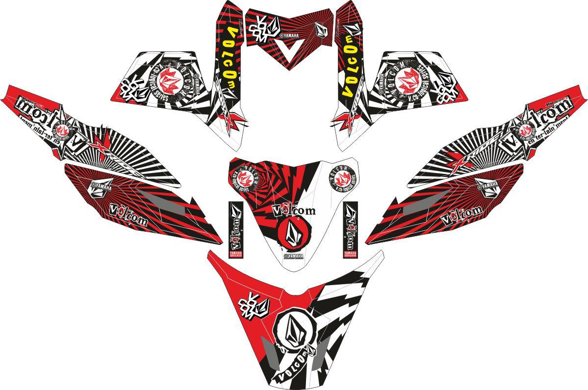 Комплект наклеек на скутер YAMAHA X RIDE VOLCOM STONE