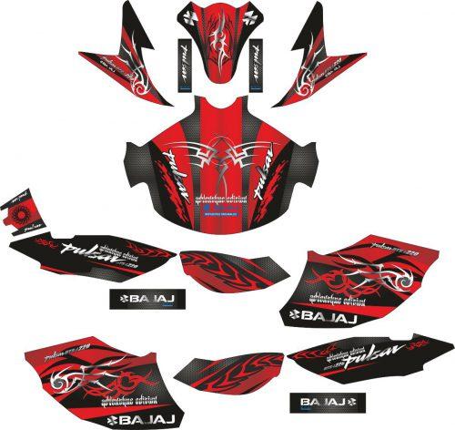 Комплект наклеек на скутер BAJAJ PULSAR 220F
