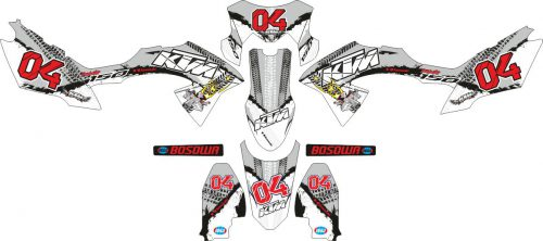 Комплект наклеек на скутер KAWASAKI KLX 2015 BF KTM BOSOWA TEAM