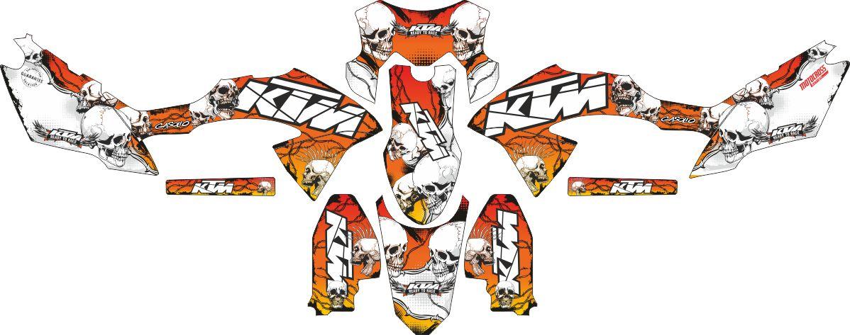 Комплект наклеек на скутер KAWASAKI KLX 2015 BF KTM DECAL