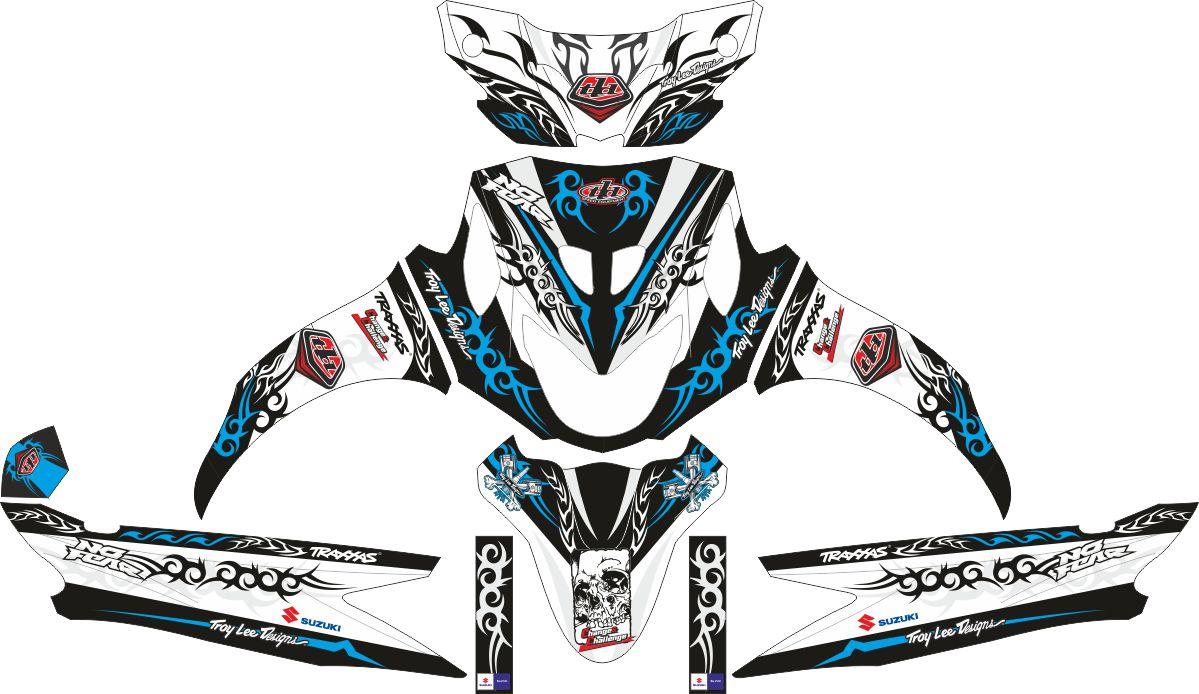 Комплект наклеек на скутер SUZUKI NEX 2012 TRIBALISM