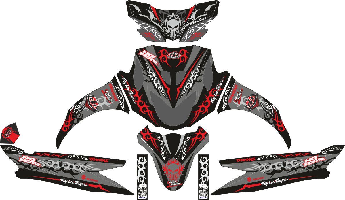Комплект наклеек на скутер SUZUKI NEX 2012 TRIBALISM BLACK