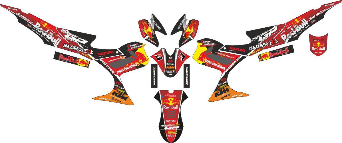 Комплект наклеек на скутер SUZUKI SATRIA FU MOTOGP RED BULL RACING