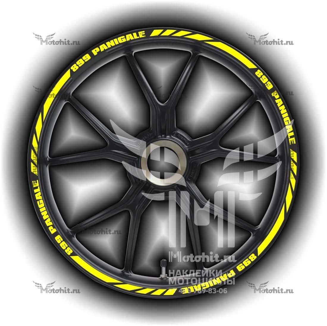 Комплект наклеек на обод колеса мотоцикла DUCATI 899-PANIGALE
