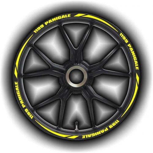Комплект наклеек на обод колеса мотоцикла DUCATI 1199-PANIGALE