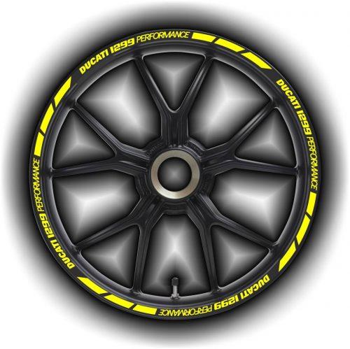Комплект наклеек на обод колеса мотоцикла DUCATI 1299-PERFORMANCE