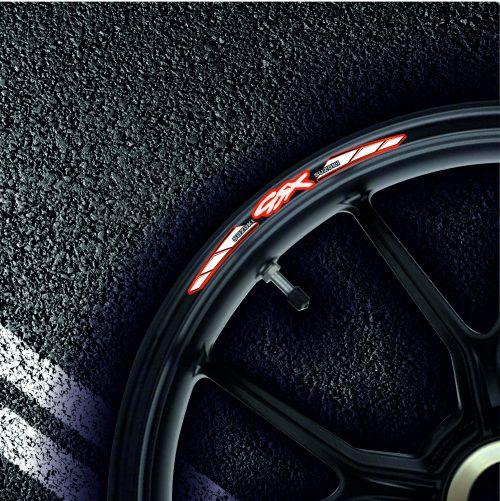Комплект наклеек на обод колеса мотоцикла SUZUKI GSX
