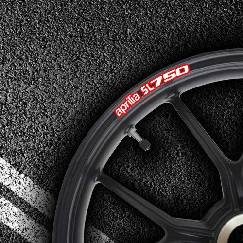 Комплект наклеек на обод колеса мотоцикла APRILIA MANA-sl-750