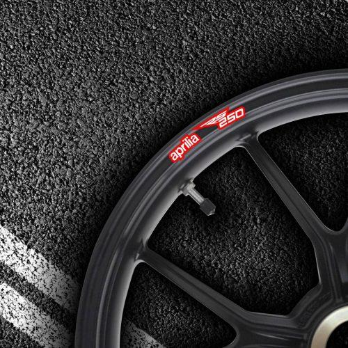 Комплект наклеек на обод колеса мотоцикла APRILIA RS-250