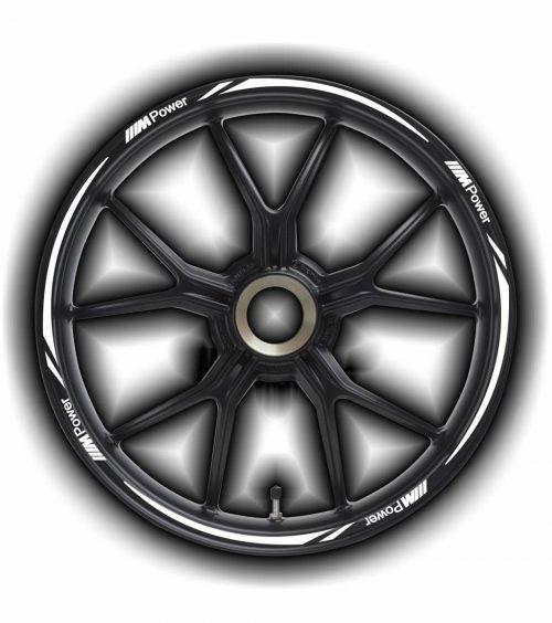 Комплект наклеек на обод колеса мотоцикла BMW 3M-POWER