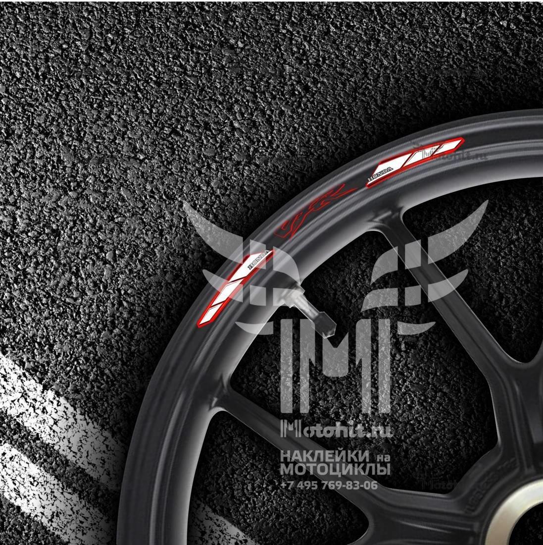 Комплект наклеек на обод колеса мотоцикла HONDA МАК