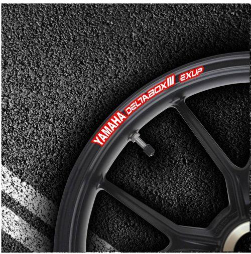 Комплект наклеек на обод колеса мотоцикла YAMAHA DELTABOX-III-EXUP