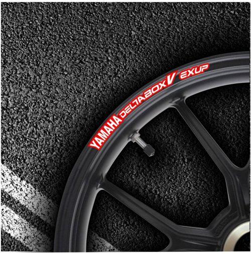 Комплект наклеек на обод колеса мотоцикла YAMAHA DELTABOX-V-EXUP