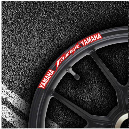 Комплект наклеек на обод колеса мотоцикла YAMAHA FAZER
