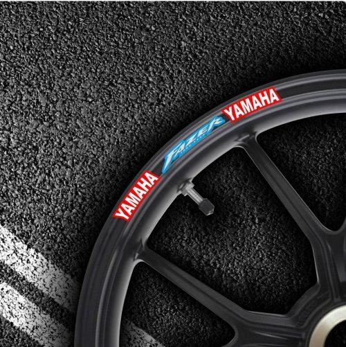 Комплект наклеек на обод колеса мотоцикла YAMAHA FAZER-EXUP