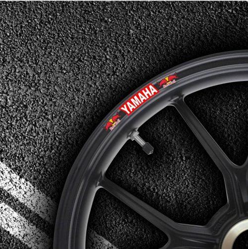 Комплект наклеек на обод колеса мотоцикла YAMAHA RED-BULL