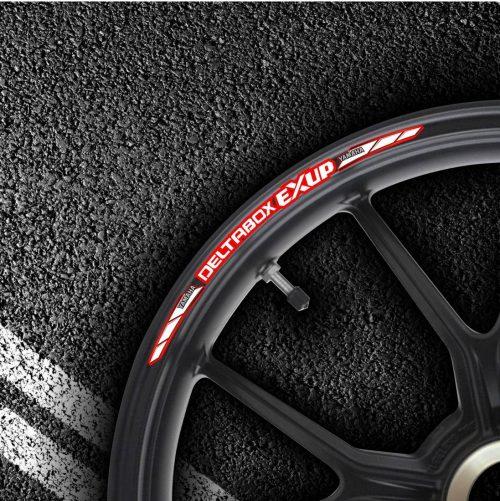 Комплект наклеек на обод колеса мотоцикла YAMAHA DELTABOX-EXUP