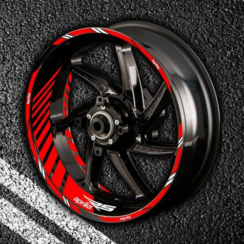 Комплект наклеек с полосами на колеса мотоцикла APRILIA RS