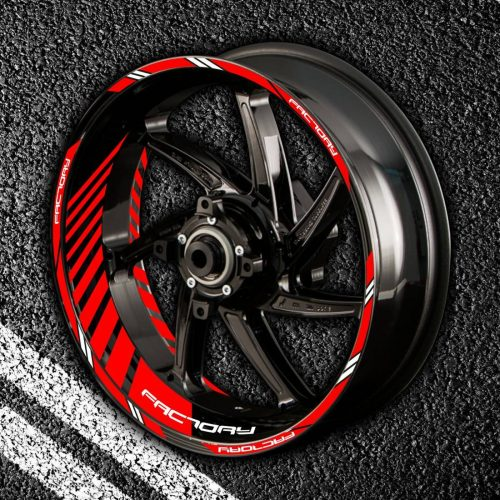 Комплект наклеек с полосами на колеса мотоцикла APRILIA FACTORY