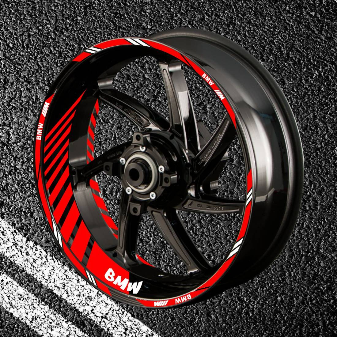 Комплект наклеек с полосами на колеса мотоцикла BMW