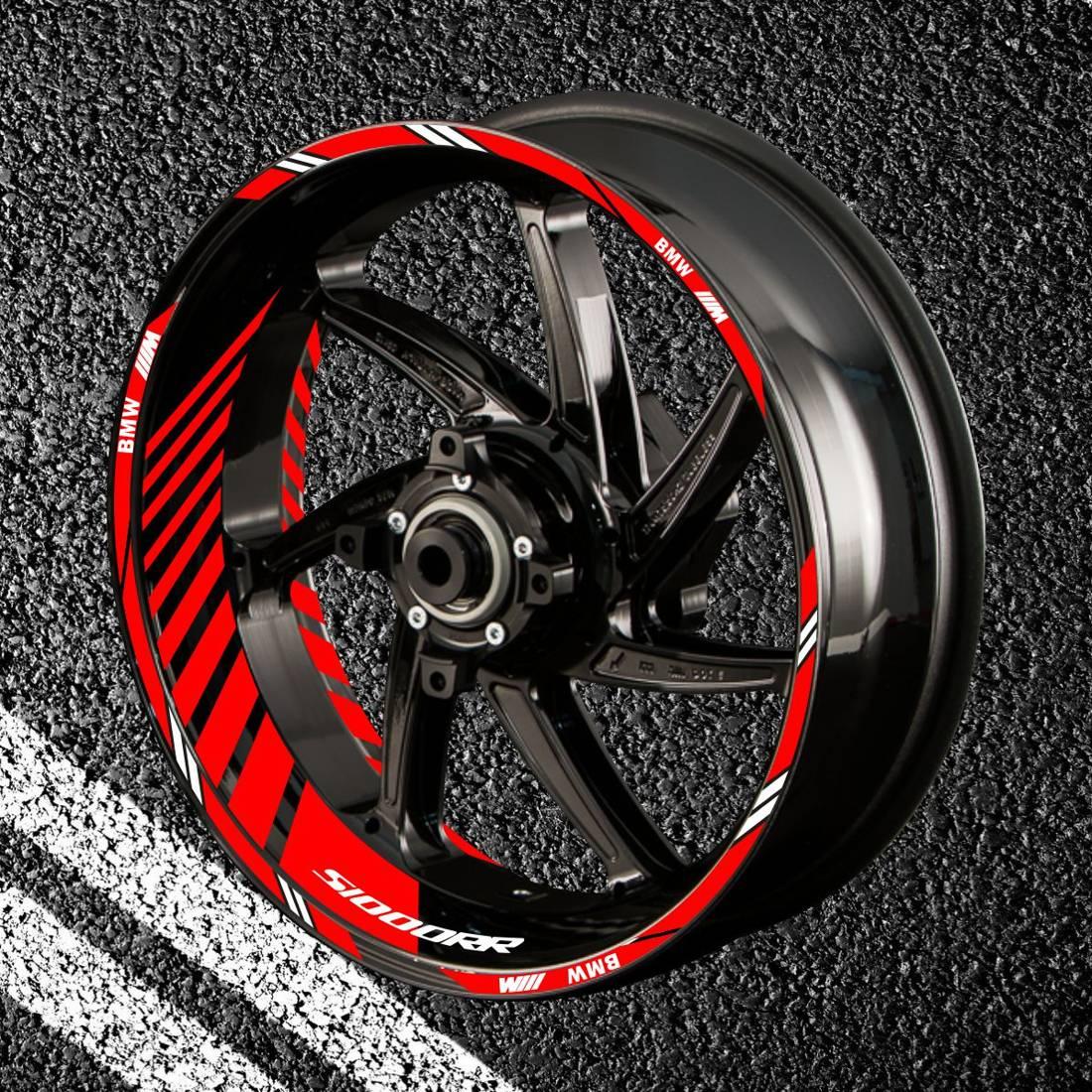 Комплект наклеек с полосами на колеса мотоцикла BMW S-1000-RR