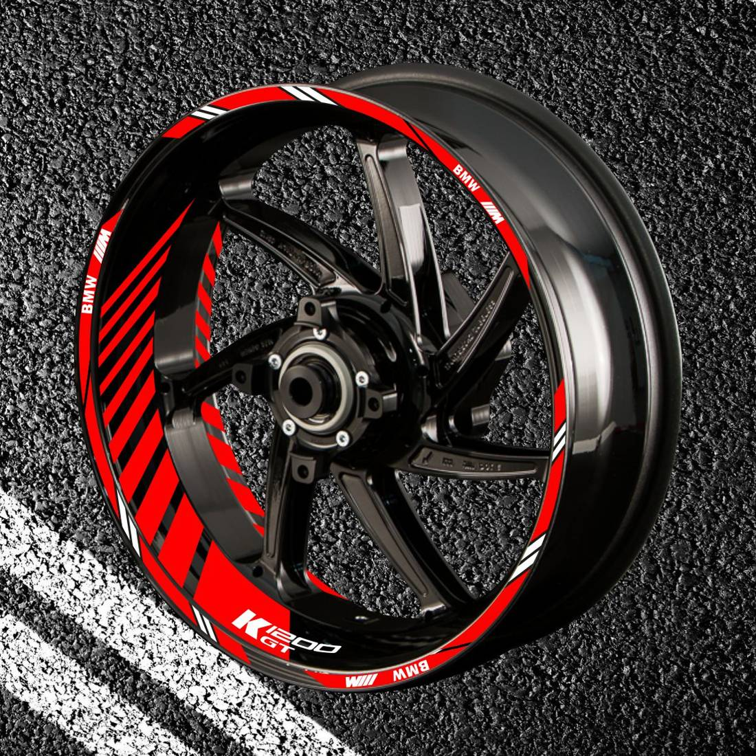Комплект наклеек с полосами на колеса мотоцикла BMW K-1200-GT