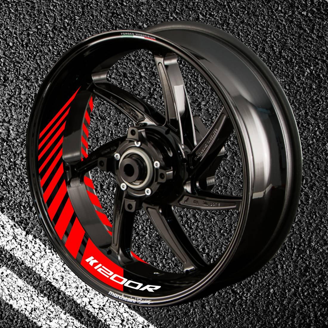 Комплект наклеек с полосами на колеса мотоцикла BMW K-1200-R
