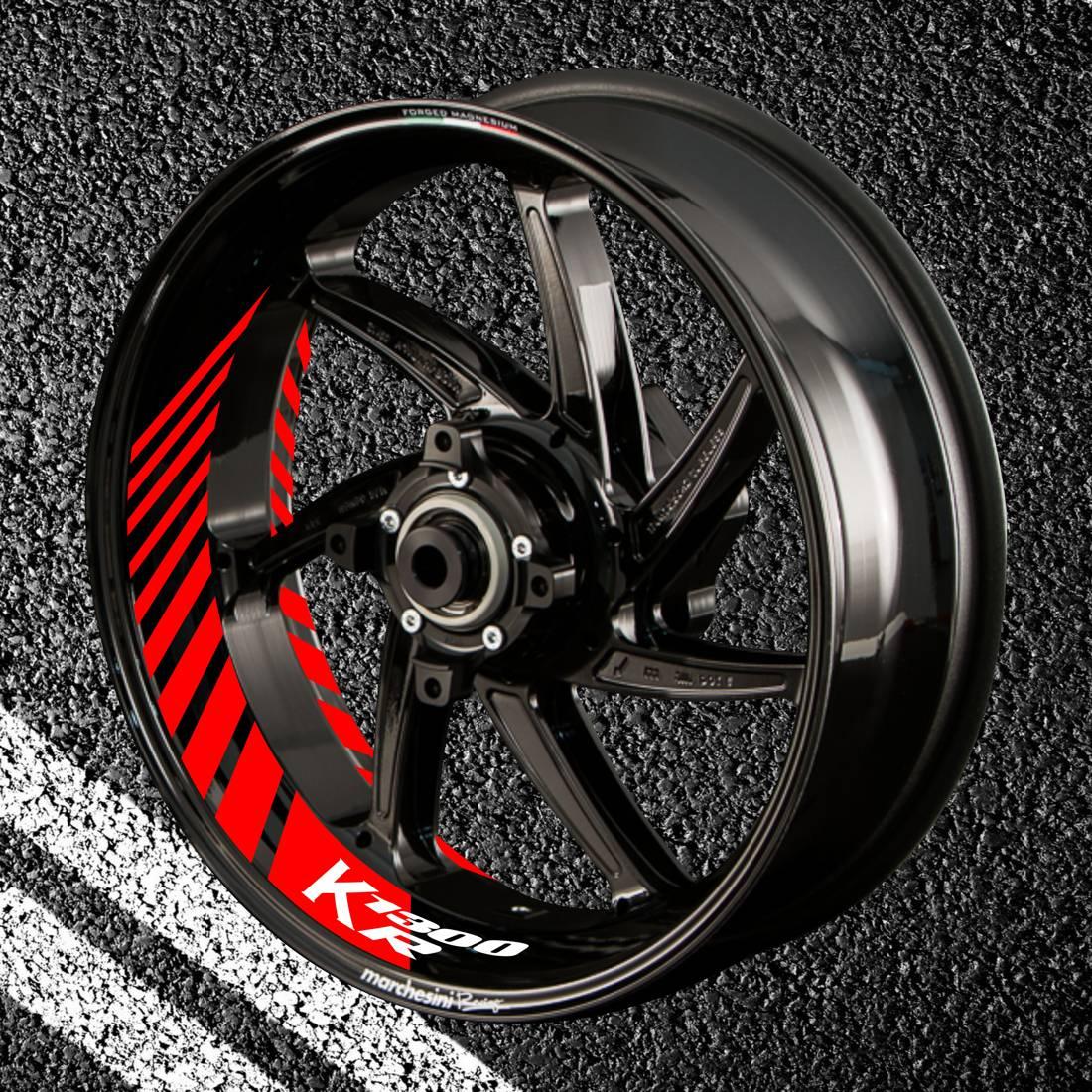 Комплект наклеек с полосами на колеса мотоцикла BMW K-1300-R