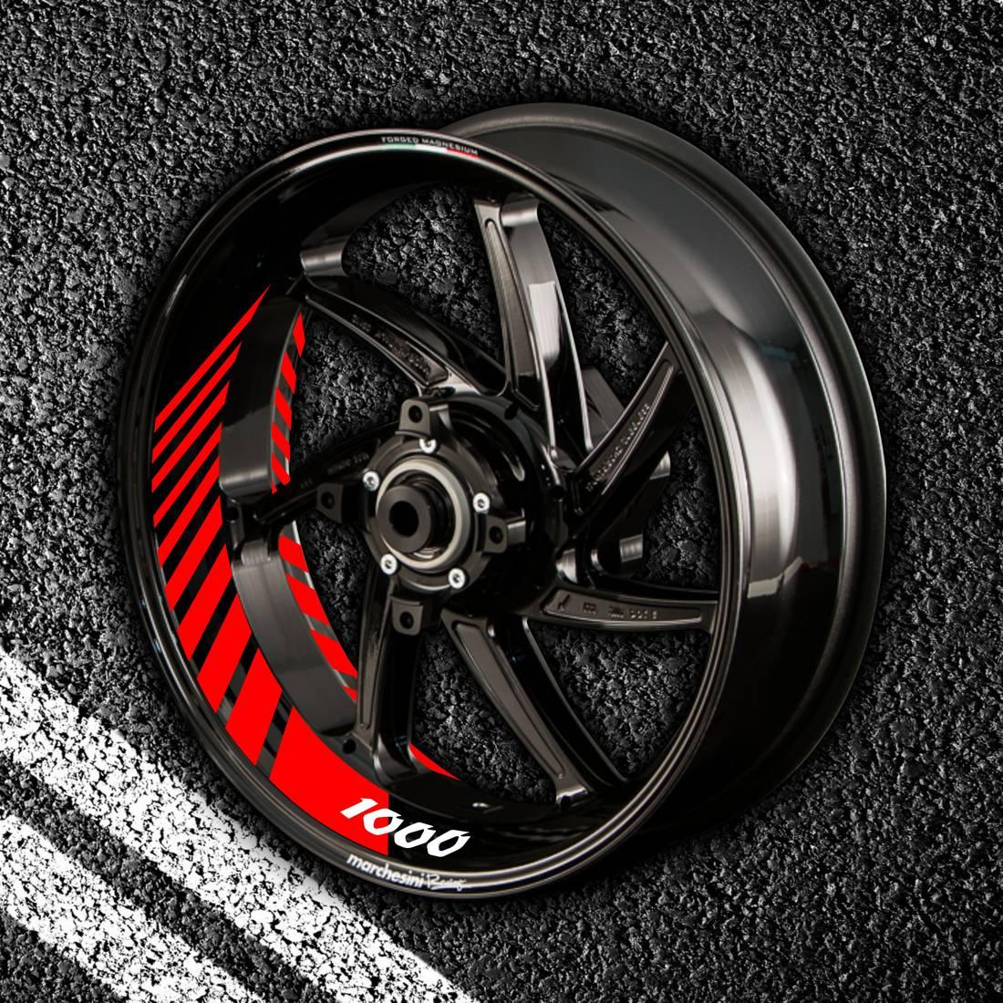 Комплект наклеек с полосами на колеса мотоцикла DUCATI 1000