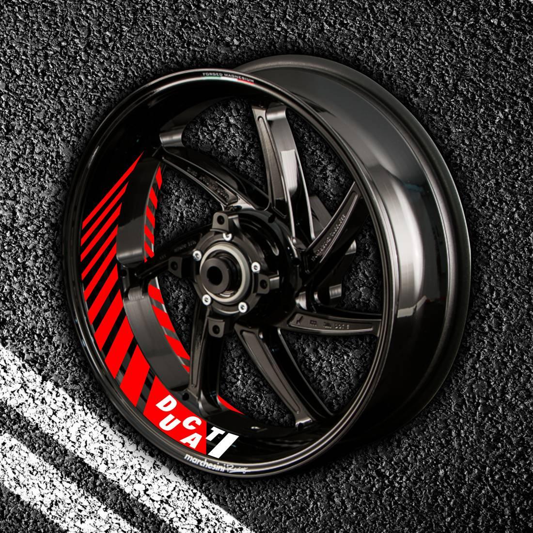 Комплект наклеек с полосами на колеса мотоцикла DUCATI
