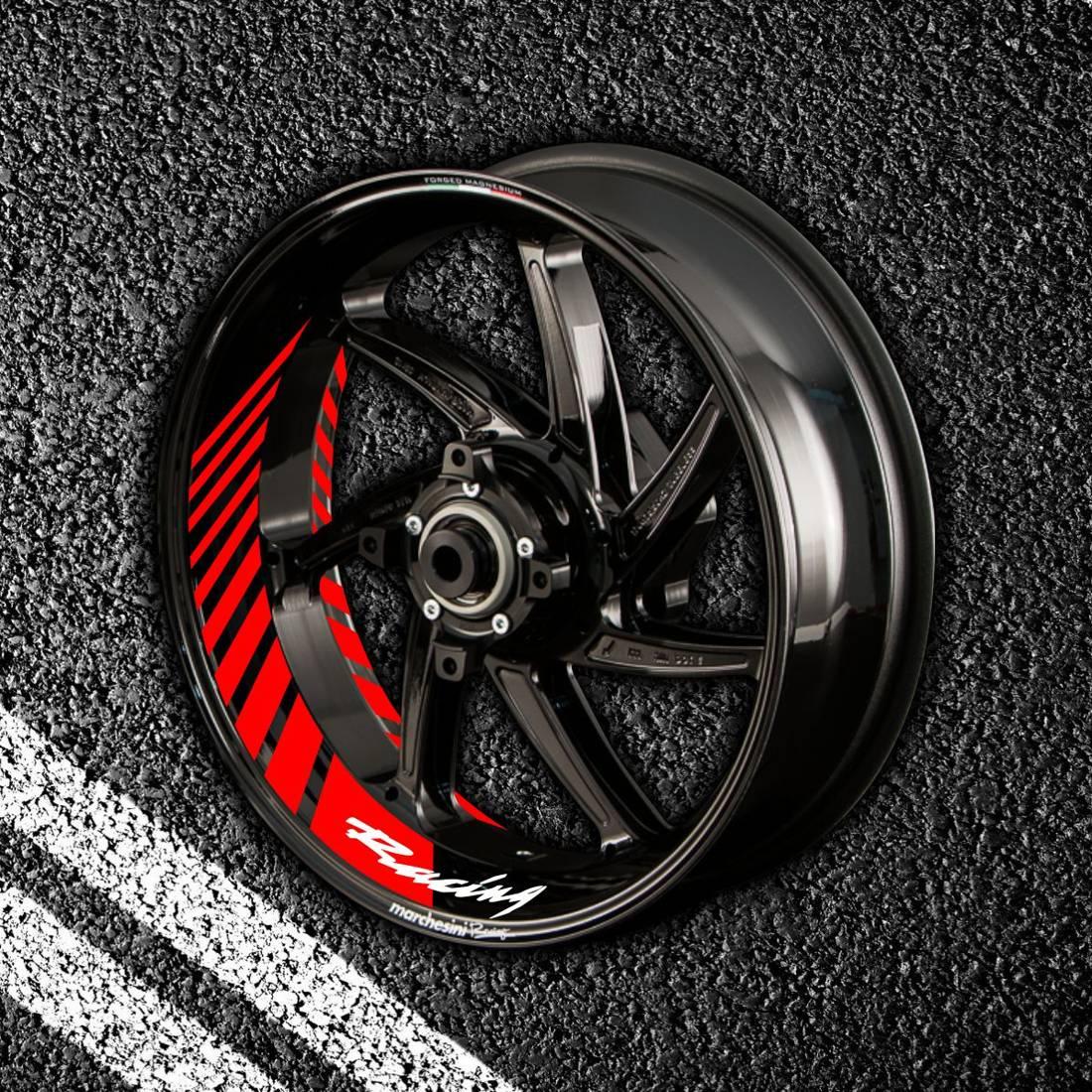 Комплект наклеек с полосами на колеса мотоцикла HONDA RACING