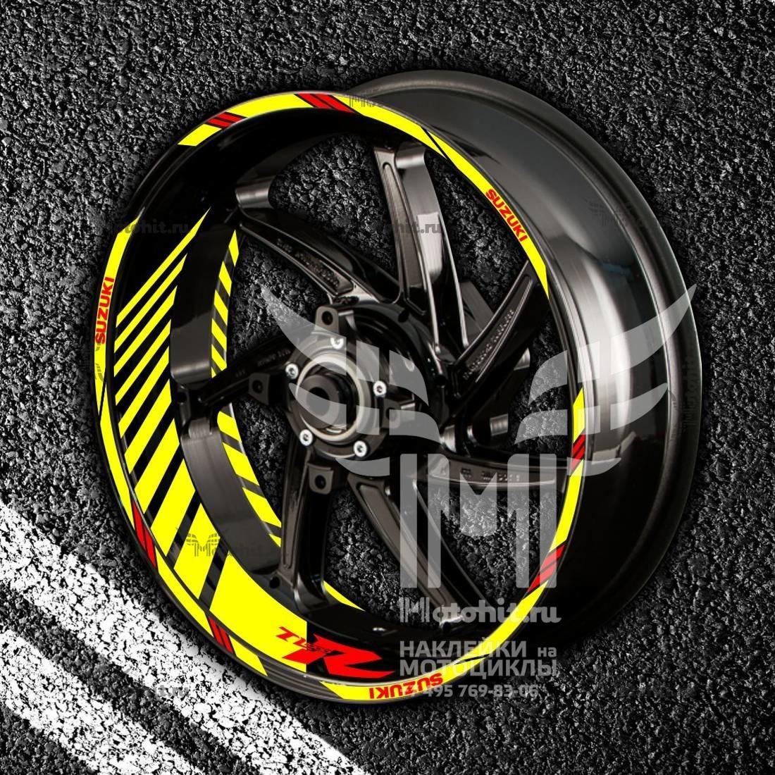 Комплект наклеек с полосами на колеса мотоцикла SUZUKI TL-1000-R