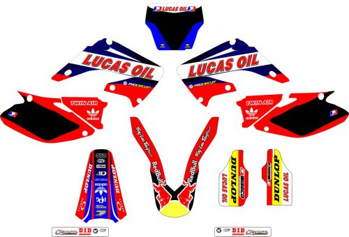 Комплект наклеек на HONDA CR-125 2002-2007-LUCAS-OIL