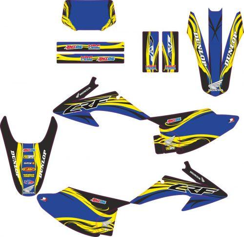 Комплект наклеек на HONDA CRF-150-230 2008-2012 LOCO-3