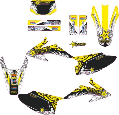 Комплект наклеек на HONDA CRF-150-230 2008-2012 ROCKSTAR-YELLOW