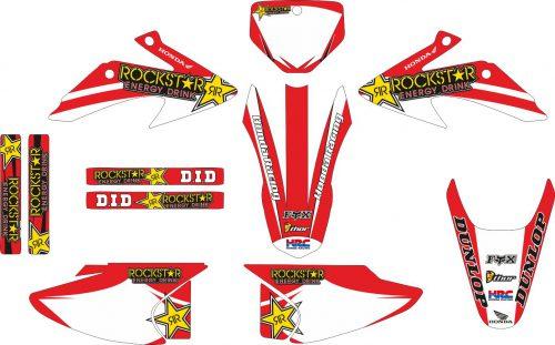 Комплект наклеек на HONDA CRF-230R 2003-2007 11