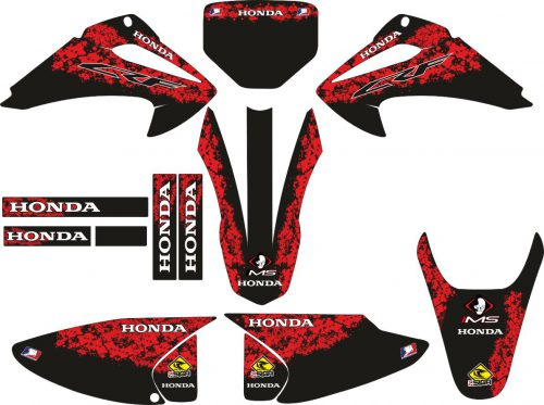 Комплект наклеек на HONDA CRF-230R 2003-2007 BLACK-RED
