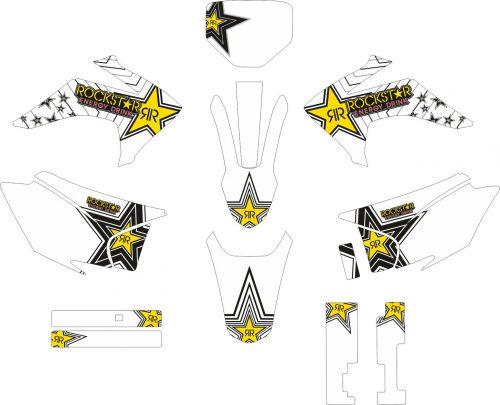 Комплект наклеек на HONDA CRF-230R 2015-2017 1