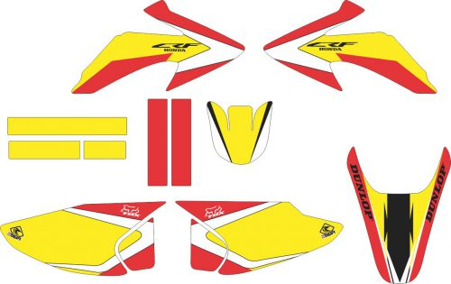 Комплект наклеек на HONDA CRF-230R-X 2003-2008 YELLOW
