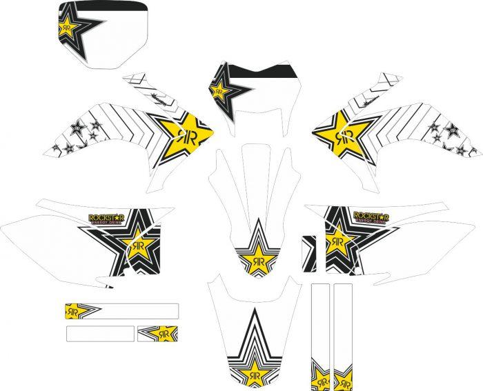 Комплект наклеек на HONDA CRF-230R-X 2015-2017 16