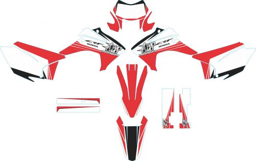 Комплект наклеек на HONDA CRF-230X 2003-2007 CLAY
