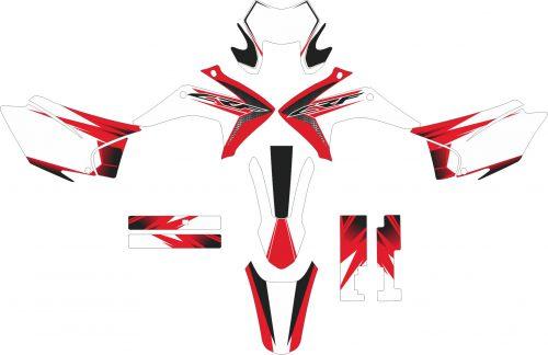 Комплект наклеек на HONDA CRF-230X 2015-2017 7