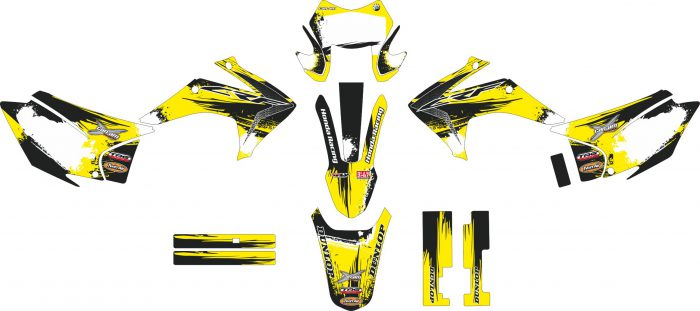 Комплект наклеек на HONDA CRF-230X 2015-2017 YELLOW