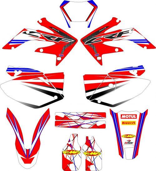 Комплект наклеек на HONDA CRF-250X 2004-2009 CRF-450X 2005-2008 20